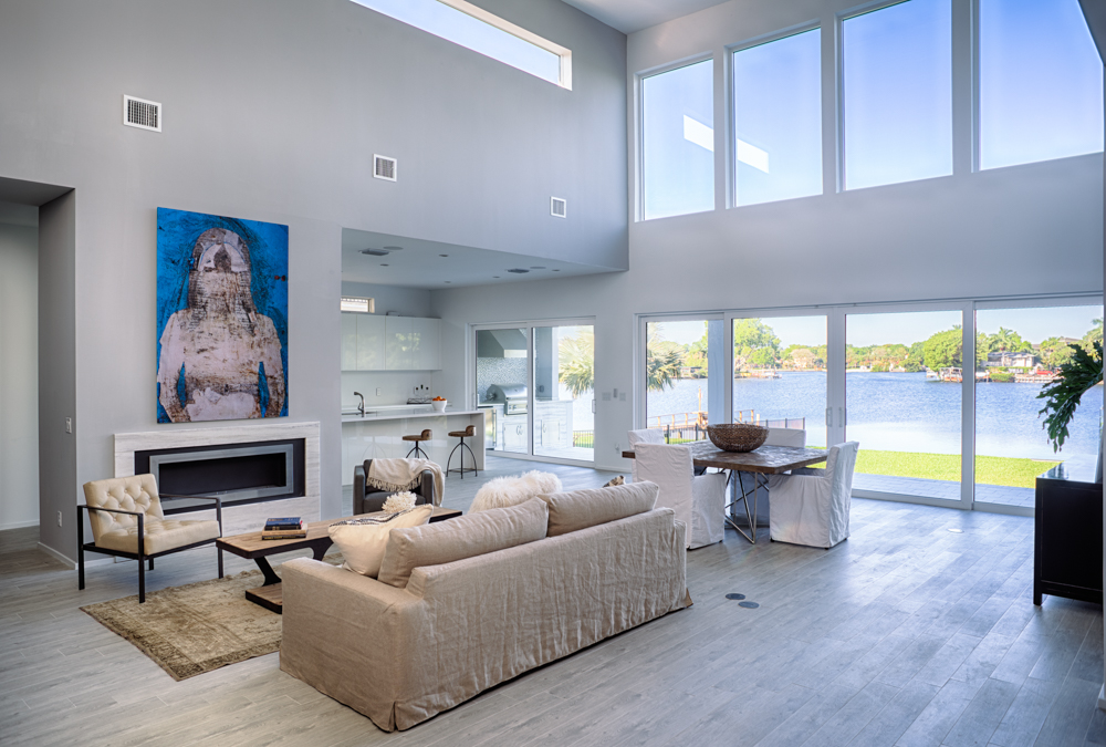 Waterfront home interior